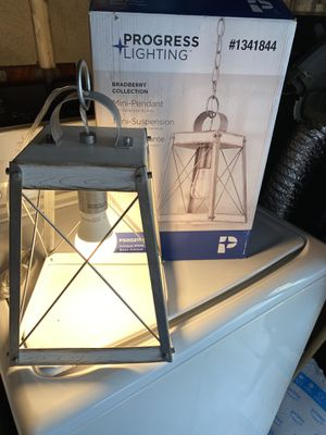 Pendant Light Farmhouse Lantern Pendant Light Open box Like new for Sale in West Covina, CA