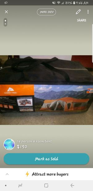 14 person 4 room tent for Sale in Binghamton, NY