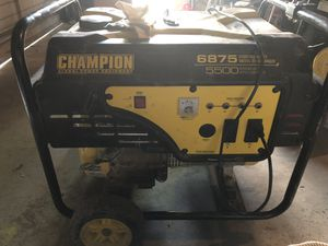 Champion Gas Generator 6875 watts for Sale in Columbus, OH