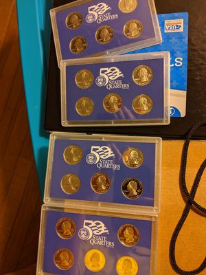4 sets 2005 proof state quarters, all deep cameo for Sale in Peoria, IL