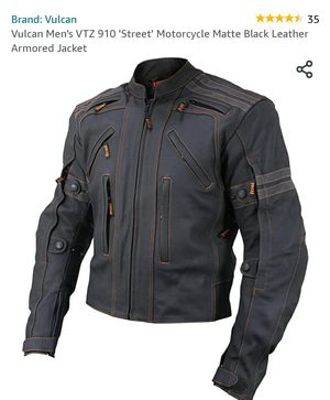 XXL Vulcan Men's VTZ 910 Motorcycle Matte black leather armored jacket , NEW for Sale in Plainfield, IL