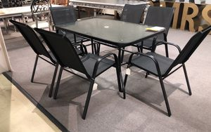 Set of aluminum table with 6 chairs for Sale in Sugar Land, TX