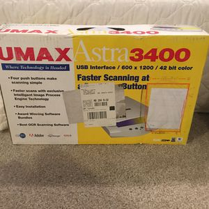 $50 or OBO never used never opened UMAX ASTRA 3400 SCANNER for Sale in Clarksburg, MD