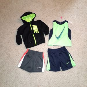Nike Baby Boy Size: 18 Month Clothes 4-ITEMS 1 Hoodie 1 Tank 2 Basketball Shorts 1 Is Part of Matching 2 Piece Muscle Tank & Shorts Set for Sale in Denver, CO