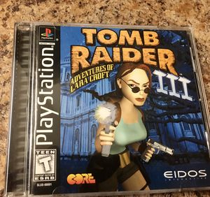 Tomb Raider 3 Ps1 for Sale in Riverside, CA