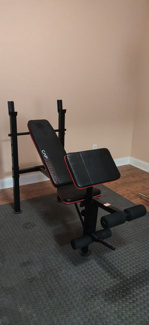 "CAP Strength incline weight bench with ""Leg Extension"" and ""Preacher Curl"" for Sale in Linwood, NC"