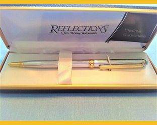 Reflections Fine Writing Instruments Pen Silver Gold Trim - for Sale in Northfield,  OH