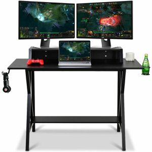 Exotic Gaming Desk All-In-One Professional Gamer Desk (Cup, Headphone Holder, Power Strip) S8 for Sale in Fredericksburg, VA