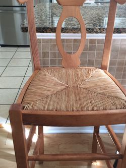 Height Wooden Chair , See Little damag It Show on pic, $15 , Monster pick up for Sale in Woodstock,  GA