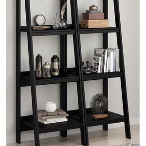 4 Shelf Ladder Bookcase Bundle, Black for Sale in Las Vegas, NV