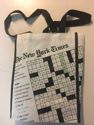 New York Times Crossword Puzzle Shopping Travel Storage Strap Bag for Sale in Queens, NY