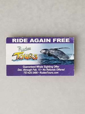 Whale Watching Rudee Tours - Ticket for 2 Adults for Sale in Portsmouth, VA