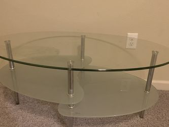 Glass Coffe Table - 3 Tier Oval Shape for Sale in North Plains,  OR