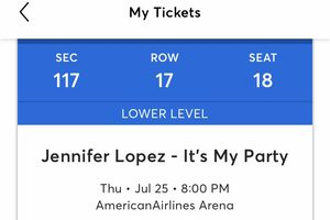 2 Jlo tickets for sale. $200 each. Good seats. for Sale in Hollywood, FL