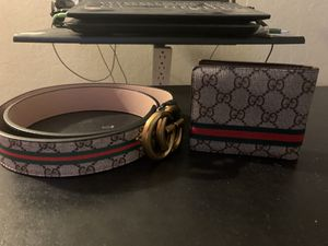 Gucci belt and wallet Class A for Sale in Antioch, CA
