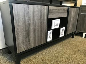 Jason TV Stand up to 70in TVs, Distressed Grey AND Black for Sale in Santa Ana, CA