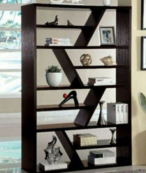 71 in. Espresso 12-shelf Standard Bookcase with Open Back for Sale in Ontario, CA