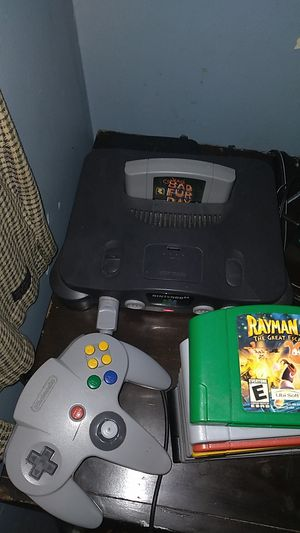 Nintendo 64 + controller and games for Sale in West Haven, CT