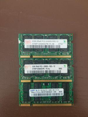 6Gb (3x2gb) 2Rx8 PC3 5300s for Sale in Minneapolis, MN