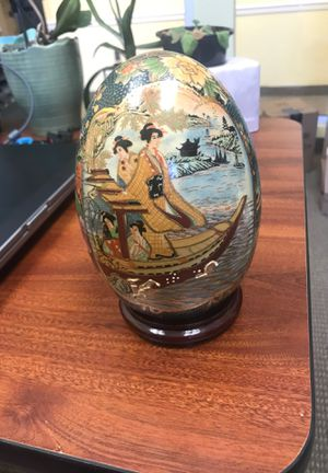 Asian Egg - Oriental Satuma Decorative Egg w/stand - Large for Sale in Bethesda, MD