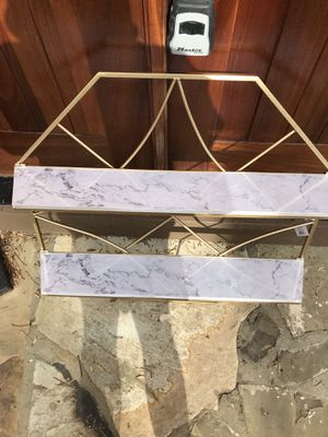 Gold / Marble large shelving unit for Sale in Marietta, GA