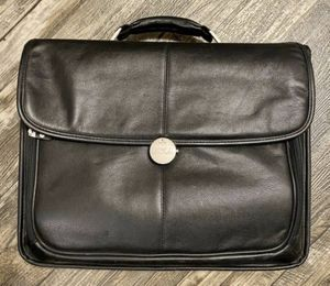 Dell Black Leather Laptop Briefcase Carry On for Sale in Chapel Hill, NC