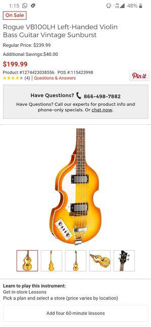 Left-Handed Violin Bass GuitarVintage Sunburst/ Bajo para zurdo for Sale in Miami, FL