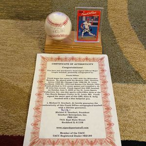 Frank DiPino Autographed baseball & card with COA St. Louis Cardinals for Sale in Gilbert, AZ