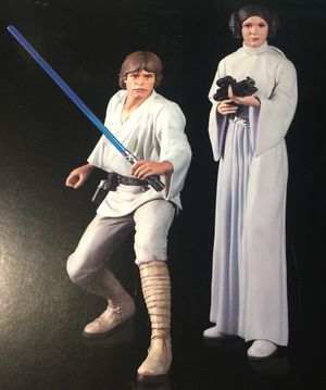 Luke Skywalker and Princess Leia 2 pack statue Star Wars ARTFX+ Statue Kotobukiya star wars a new hope 1/10 scale collectible model statue for Sale in Queens, NY