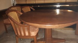 Wood table with insert for Sale in Phoenix, AZ