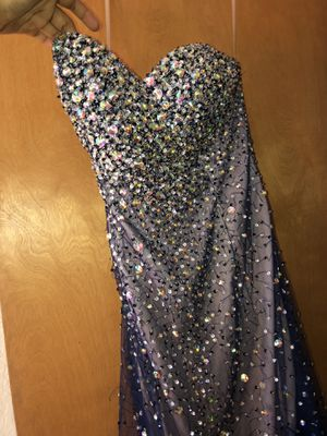 Blue mermaid sequin strapless prom dress for Sale in Wahneta, FL