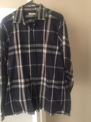 Burberry Brit button up official 2XL cash only for Sale in Freehold, NJ