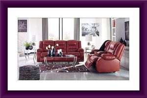 Red Ashley recliner sofa and loveseat for Sale in Alexandria, VA
