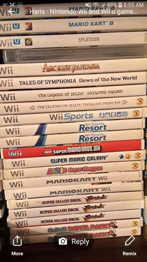 Nintendo games wii and wii u for Sale in Lapeer, MI