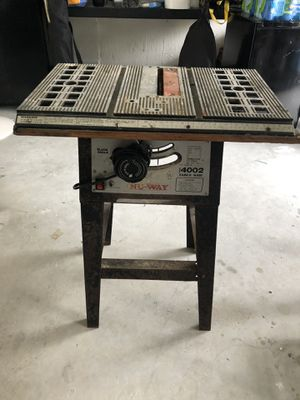 Nu way table saw for Sale in Homestead, FL