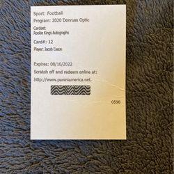 Jacob Eason Optic Rookie Kings Auto for Sale in Sunnyside,  WA