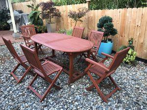 Teak outdoor patio dining furniture set-7 pieces for Sale in Shoreline, WA