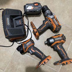 Ridgid Tools Combo Kit for Sale in Dallas, TX