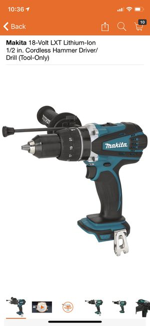 Makita 18-Volt LXT Lithium-Ion 1/2 in. Cordless Hammer Driver/Drill (Tool-Only) for Sale in Philadelphia, PA