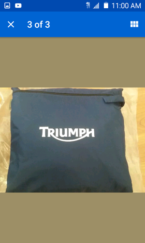 Triumph Motorcycle dust cover for Sale in Las Vegas, NV