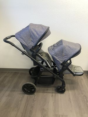 Silver Cross Coast Double Stroller in Limestone for Sale in Scottsdale, AZ