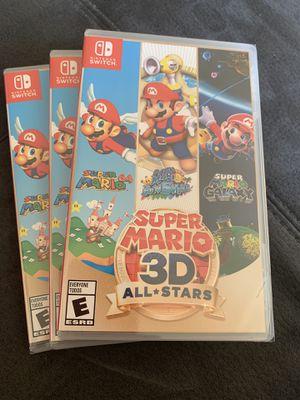 Nintendo switch games super Mario 3D allstars new sealed for Sale in Miami, FL