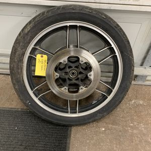 1985 Honda nighthawk CB650 front and rear rims and tires for Sale in Arlington Heights, IL