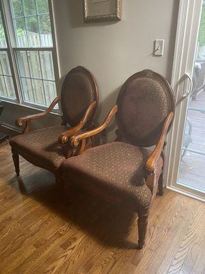 Pair of Louis XV chairs for Sale in Gaithersburg, MD