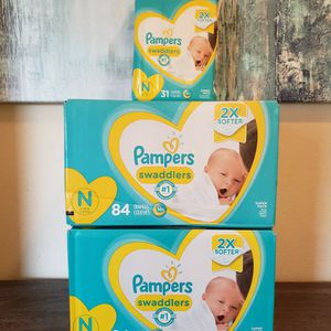 Pampers Swaddlers Diapers Size Newborn Bundle for Sale in Bonita, CA