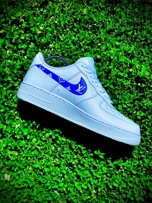 V.2 Custom Blue Louis Vuitton AF1 for Sale in Diamond Bar, CA