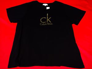 Brand New! Calvin Klein Tee with Gold Rhinestones for Sale in Las Vegas, NV