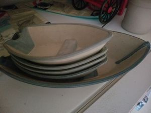 Platter set nautical row boats for Sale in Coventry, RI