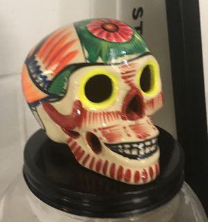 Painted skull and Skull shape beverage dispenser. for Sale in New York, NY