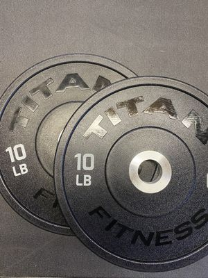 Olympic urethane bumper plates weights Titan rogue for Sale in Walnut Creek, CA